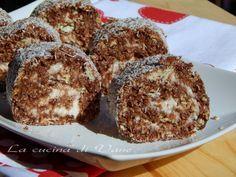 Girelle yogurt cocco e cioccolato senza cottura