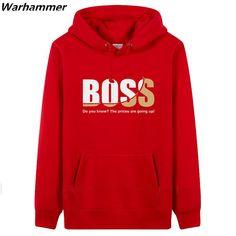 Warhammer BOSS Jacket Men Winter Autumn Print Boss Hoodies Pullover Sweatshirts Fashion Boss Plus EU O-neck Fleece Cotton Hoodie Hoodie Sweatshirts, Printed Sweatshirts, Sweat Shirt, Sweat Style, Thick Hoodies, Pull Sweat, Mode Plus, Style Casual, Graphic Tee Shirts