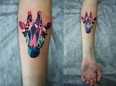 Giraffe Tattoo, one of the best giraffe tattoos I've seen