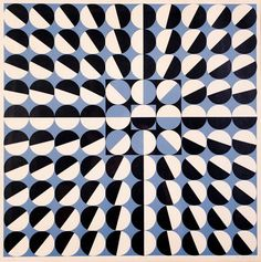 """Composition"" by Czech artist Milan Dobeš, whose work is a kind of synthesis of the styles and techniques of Bridgette Riley and Victor Vasarely. Op Art, Graphic Patterns, Textile Patterns, Print Patterns, Pattern Art, Pattern Design, Victor Vasarely, Design Art, Graphic Design"