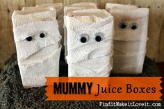 "Mummy Juice Boxes - Mandy Miner has some tips on the best ""mummy wrap"" to use, so it's not see-through."