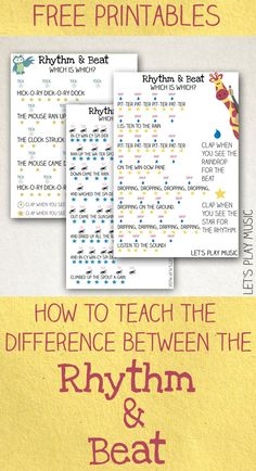Teaching Kids the Difference Between the Rhythm and the Beat