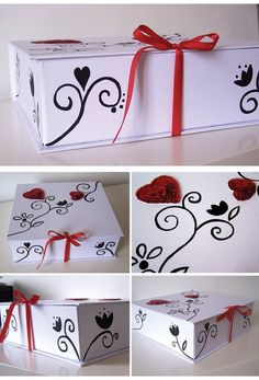 Something like this would be a good idea to do for a way to deliver smaller size print orders. It would just take some photo boxes, ribbon, my hot glue gun, and some paint.