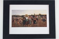 RECALL Of The GLEANERS Genuine Original Antique Fine Art Print by Jules Breton…