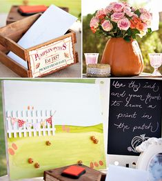 Vintage Pumpkin & Roses First Birthday // Hostess with the Mostess®
