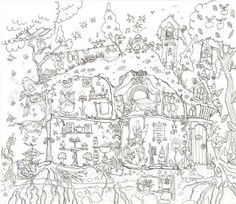 Really Giant Posters Fairy House Colouring Poster By Amanda Loverseed