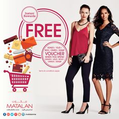 Spend 200AED | 200QR | OMR20 | BD20 | 40JD & Get FREE 50AED | 50QR | OMR5 | BD5 | 10JD Voucher with instant redemption! Shop now at MATALAN with Great Price that Makes Fashion Sense!  www.matalan-me.com  #Matalanme #MatalanAW15 #gift #voucher #spend #get #Trend #GoodQuality #GreatPrice #MakesFashionSense #uae #qatar #oman #bahrain #jordan