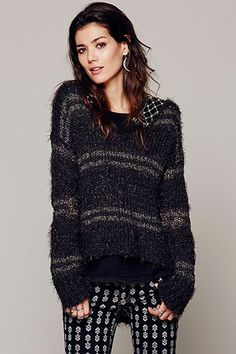 Free People Cozy In Stripes Pullover, $118, available at Free People.