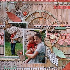 Colorful Memories: Beautiful Moment layout with Kaisercraft papers and Blue Fern Studios chipboard Hobbies And Crafts, Arts And Crafts, Paper Crafts, Baby Scrapbook Pages, Something To Remember, Bow Arrows, Weekend Projects, Beautiful Moments, Scrapbooking Layouts