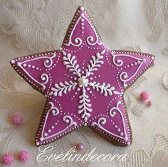 Xmas fucsia star