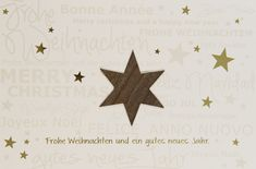 Ein echter Holzstern schmückt diese wundervolle #Weihnachtskarte! Merry Christmas, Happy New Year, Noel, Christmas Is Coming, Xmas Cards, Merry Little Christmas, Happy Merry Christmas, Happy New Years Eve, Wish You Merry Christmas