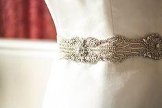 Bridal sash - Art Deco 18 inches | MillieIcaro