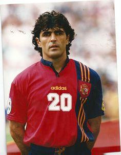 Miguel Ángel Nadal de España en la Eurocopa de 1996.
