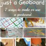 More than just a geoboard. Check out these 7 exciting ways to either use or make a DIY geoboard with a twist!