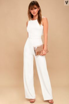Enamored White Backless Jumpsuit Chic Jumpsuit – Backless Jumpsuit – White Jumpsuit More from my site Thinking Out Loud White Backless Jumpsuit Thinking Out Loud Black Backless Jumpsuit Lulus Wedding Rompers, Wedding Jumpsuit, Backless Jumpsuit, Jumpsuit Outfit, Casual Jumpsuit, Prom Jumpsuit, White Jumpsuit Formal, White Dress, Black Jumpsuit