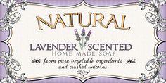 Lavender soap labels