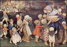 Old Lady Who Lived in a Shoe by Jessie Willcox Smith. From Finsbry's flickriver.