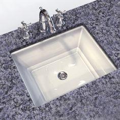 View Estate Rectangular Undercounter Bathroom Sink Alternate View