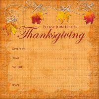 thanksgiving invitation templates