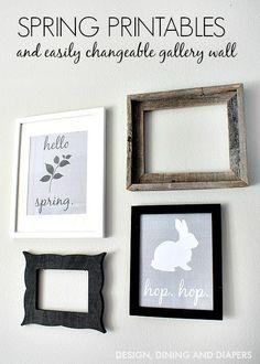 Easy Family Recipes, DIY Crafts & Tutorials - I Heart Naptime Diy Crafts Hacks, Decor Crafts, Holiday Fun, Holiday Decor, Hello Spring, Home And Deco, Photos, Gallery Wall, Decor Ideas