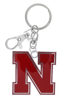 XXL Red Enamel Nebraska N Key Chain