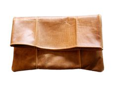 Pintuck Leather Clutch
