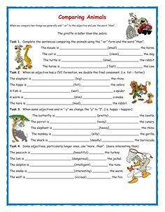 Comparatives interactive and downloadable worksheet. Check your answers online or send them to your teacher.