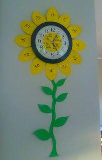 Sunflower Clock for Autumn Classroom Garden Theme Classroom, Classroom Decor Themes, Classroom Design, Kindergarten Classroom, Future Classroom, Classroom Setup, Preschool Decorations, Classroom Clock, Decoration Creche