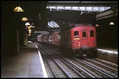 East London line: Rotherhithe station, June 1968