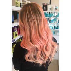 Peach and pink balayage
