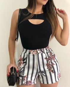 Classy Outfits For Women, Casual Fall Outfits, Crop Top Outfits, Short Outfits, Outfits For Teens, Trendy Outfits, Dress Outfits, Cool Outfits, Summer Outfits