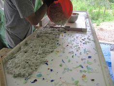 Clube do Concreto: Passo a passo bancada de concreto com vidro
