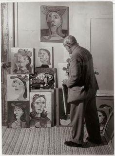 :: MUSE :: Pablo Picasso + his portraits of Dora Maar, Paris, 1939.
