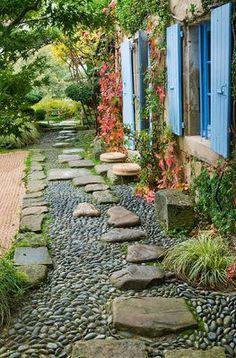 pebbles and rocks gravel garden