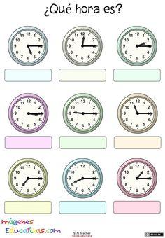 34 best El reloj y las horas images on Pinterest | Telling time, The ...