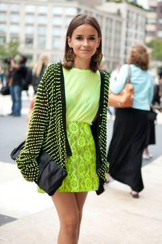 Neon green/yellow