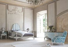 A spectacular romantic French Chateau Bedroom