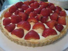 strawberry tart with lemon-vanilla pastry cream