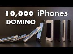 Espectacular vídeo de iPhones, cayendo como piezas de Dominó.