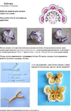 Crochet butterfly