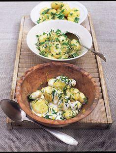 new potato salad with crème fraîche & mint