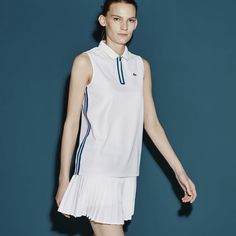 Lacoste SPORT Tennis sleeveless polo in ultra-dry fine piqué