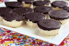 Dark Chocolate Coconut Treats – Vegan, Gluten-free + Refined Sugar-Free