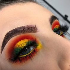Gorgeous Makeup: Tips and Tricks With Eye Makeup and Eyeshadow – Makeup Design Ideas Red Eye Makeup, Yellow Makeup, Yellow Eyeshadow, Makeup Eye Looks, Colorful Eye Makeup, Makeup For Green Eyes, Eye Makeup Tips, Makeup Goals, Makeup Inspo
