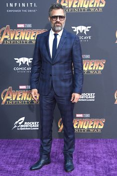 Mark Ruffalo <em>in Valentino, Christian Louboutin shoes, and Persol sunglasses</em>