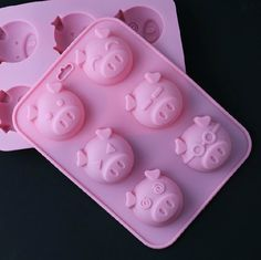 Cake Mold Soap Mold 6Pig Flexible Silicone Mold  For by happymolds, $4.99