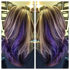 I'm loving the mix of purple and either rose or blonde....
