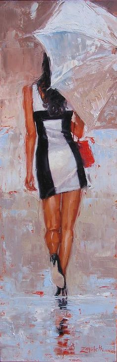 Little Red Bag Painting by Laura Lee Zanghetti