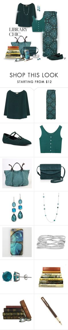 """""""~Library Chic~"""" by justwanderingon ❤ liked on Polyvore featuring American Vintage, Accessorize, Nine West, Illesteva, Ippolita, M&Co, Luxiro, Table Art and Parker"""