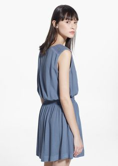 Ruched beaded dress